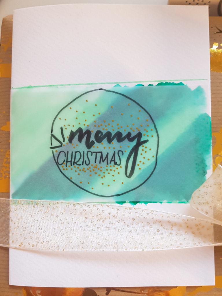 """Glückwunschkarte zu Weihnachten mit Transparentpapier """"Merry Christmas"""""""